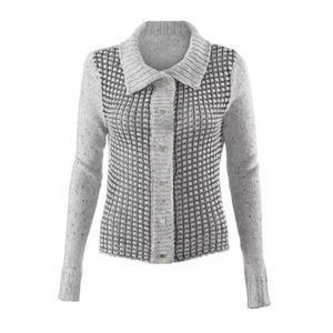 Cabi Gray Snap Button Front Knit Cardigan